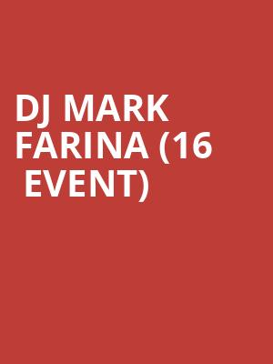 DJ Mark Farina (16+ Event) at Cervantes Masterpiece and The Other Side