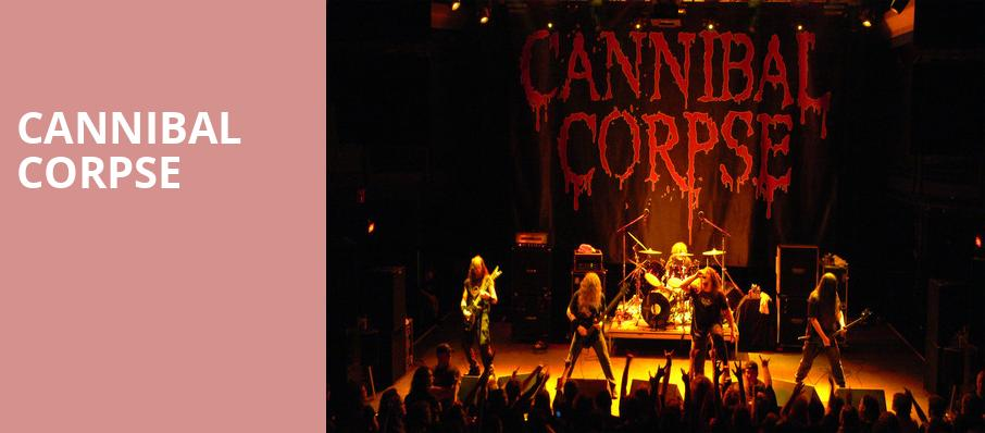 Cannibal Corpse, Boulder Theater, Denver