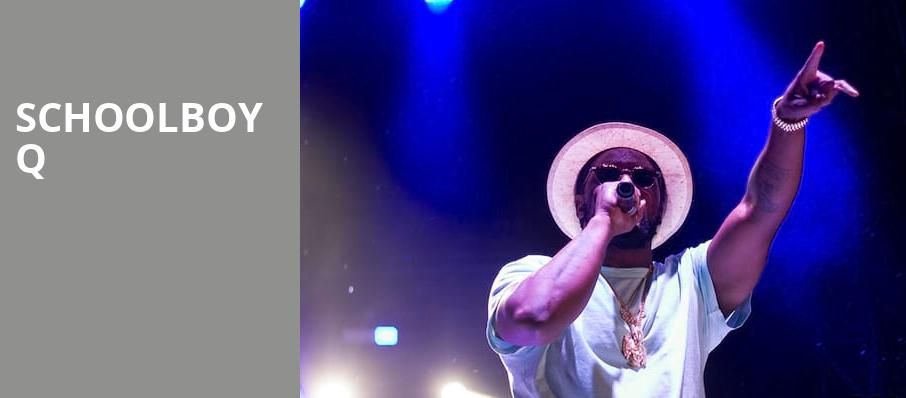 Schoolboy Q, Fillmore Auditorium, Denver